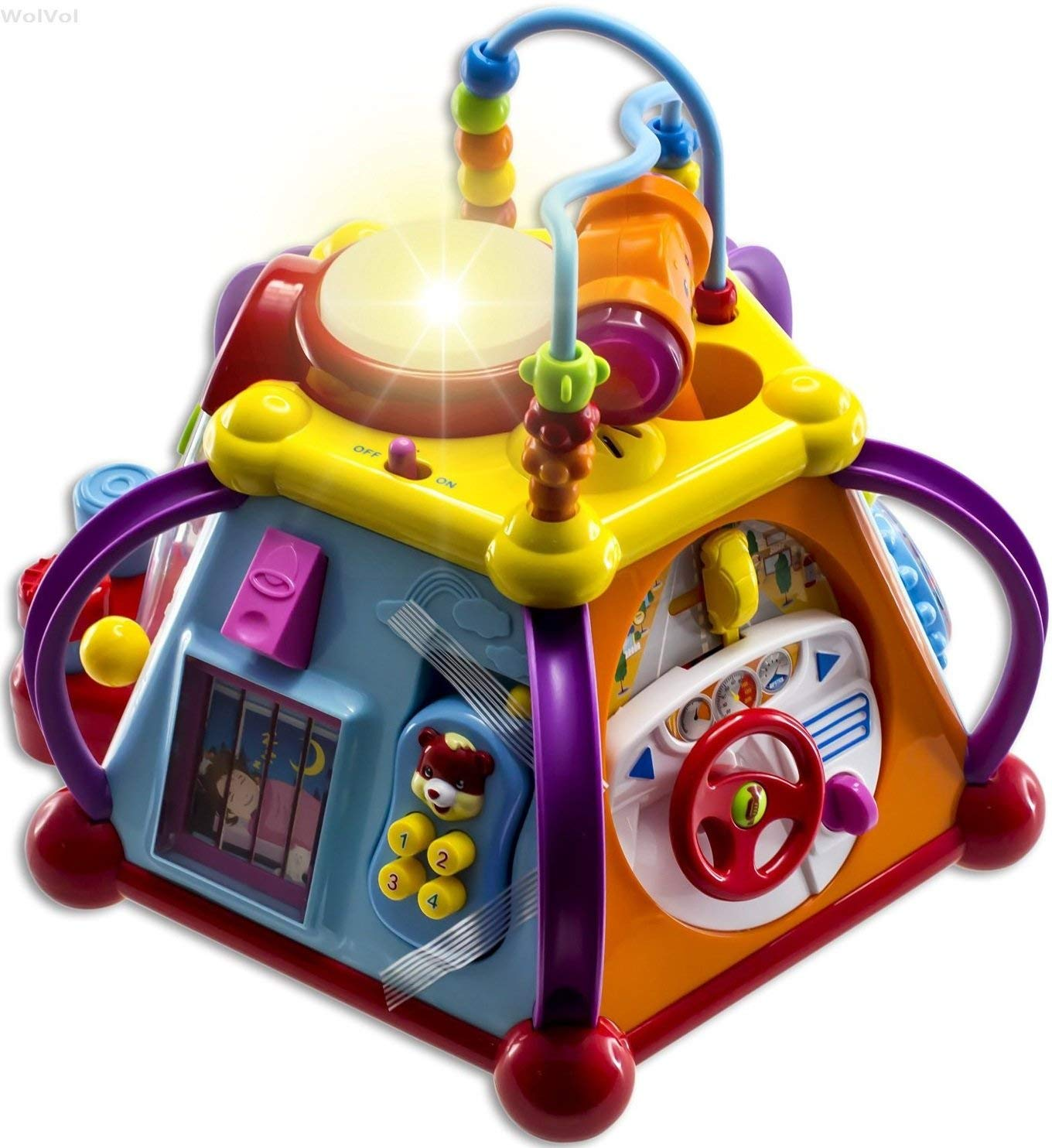 WolVol Educational Kids Toddler Baby Toy Musical Activity Cube review